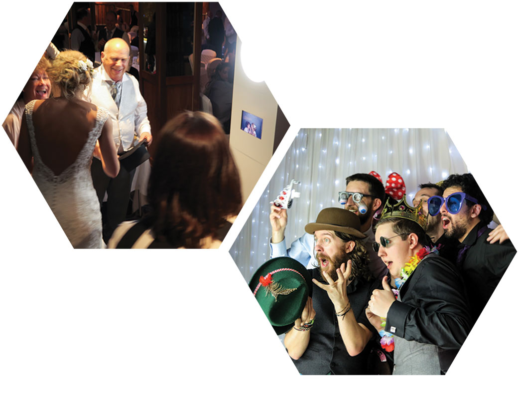 Photo Booth Hire Scotland, people experience odd box photo booth at scottish wedding