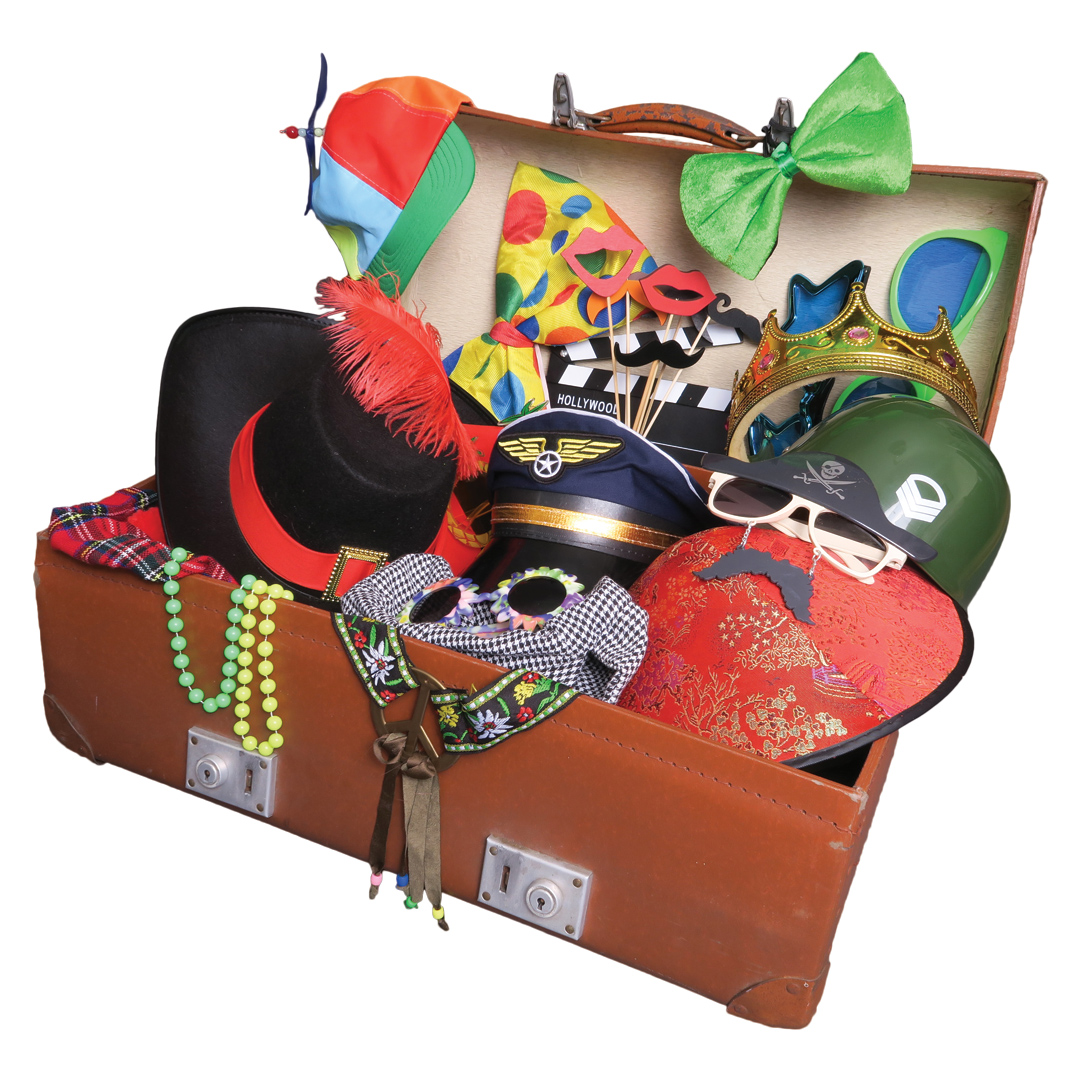 Photo Booth extras props trunk fancy dress odd box