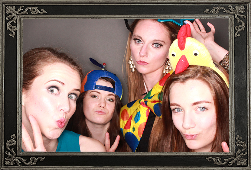 photo booth review of bellahouston netball club corporate event Glasgow Scotland Odd Box