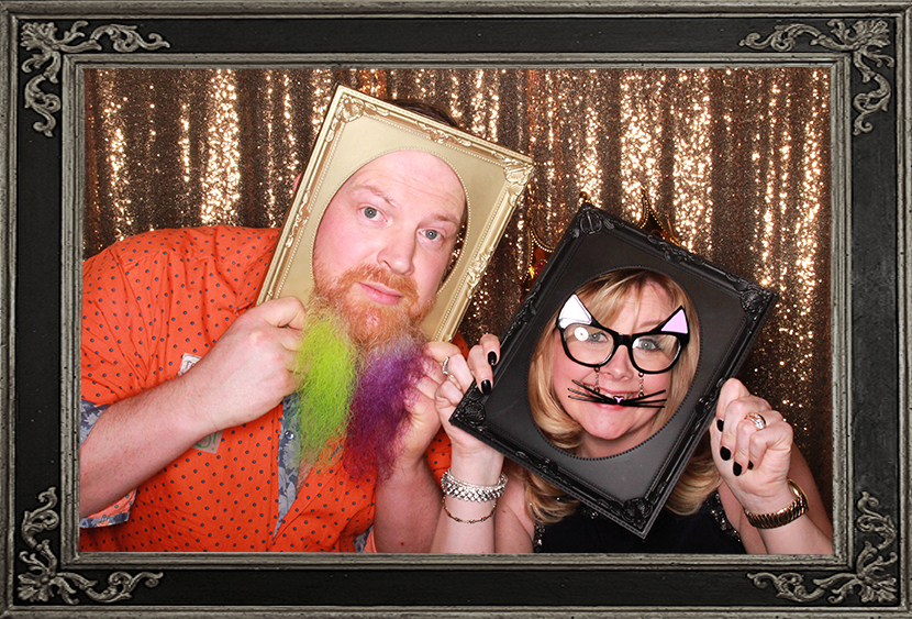 photo booth review of birthday party at Trades Hall Glasgow Scotland Odd Box