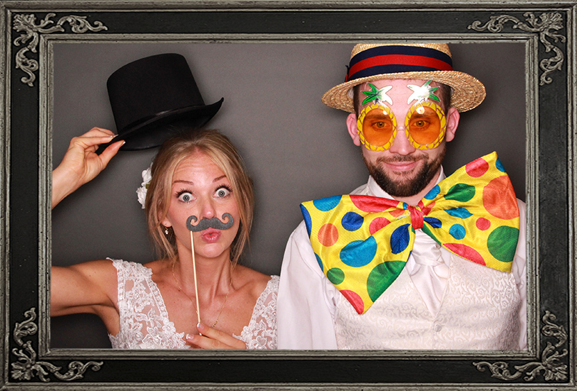 photo booth review of wedding at Lochside House Hotel Scotland Odd Box