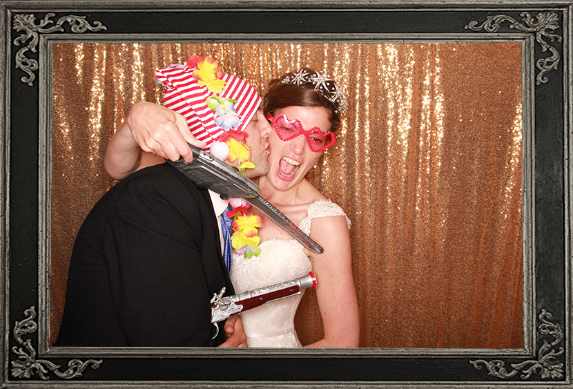 Missy & James's Wedding Ayrshire Scotland Photo Booth Review Odd Box