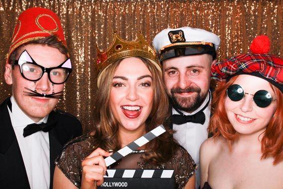 Photo Booth extras gold sequin backdrop odd box