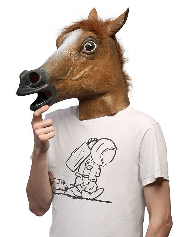 Horse Mask photo booth prop blog