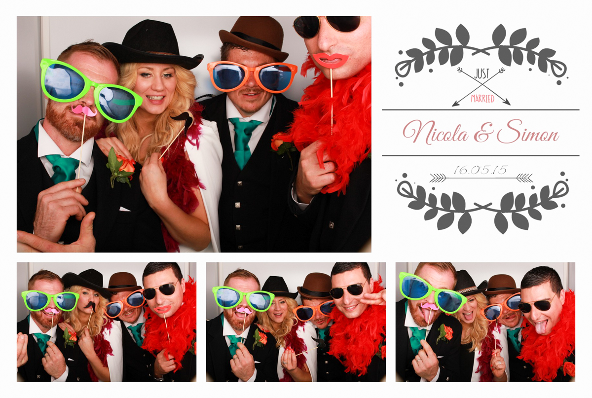 Wedding Custom Print Design Photo Booth Grand Central Hotel Glasgow