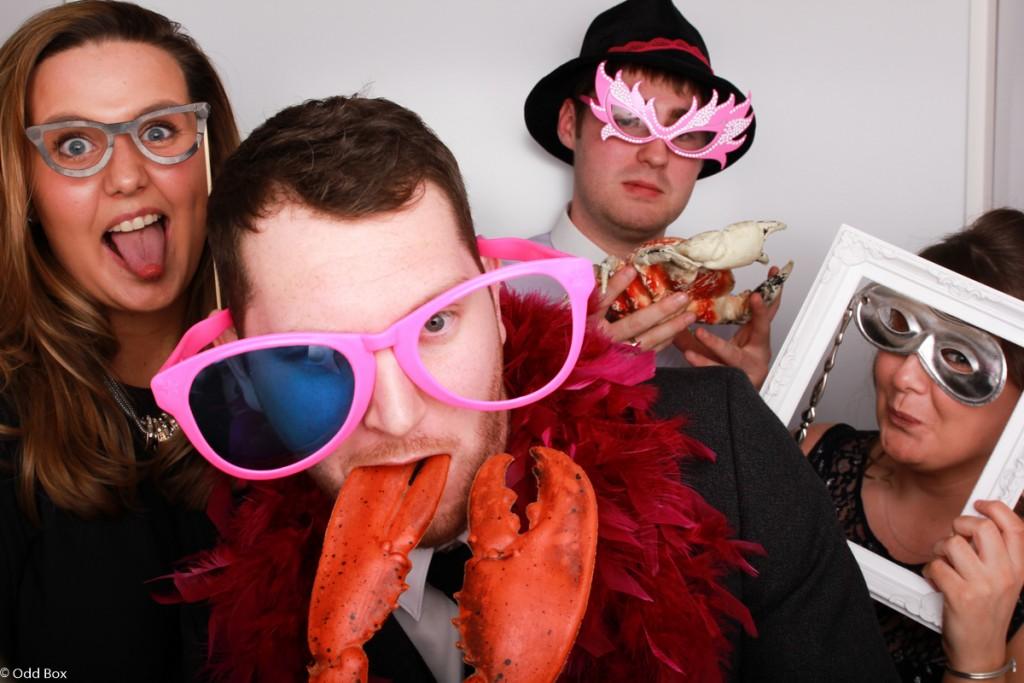 Sea creatures photo booth hire props wedding Scotland