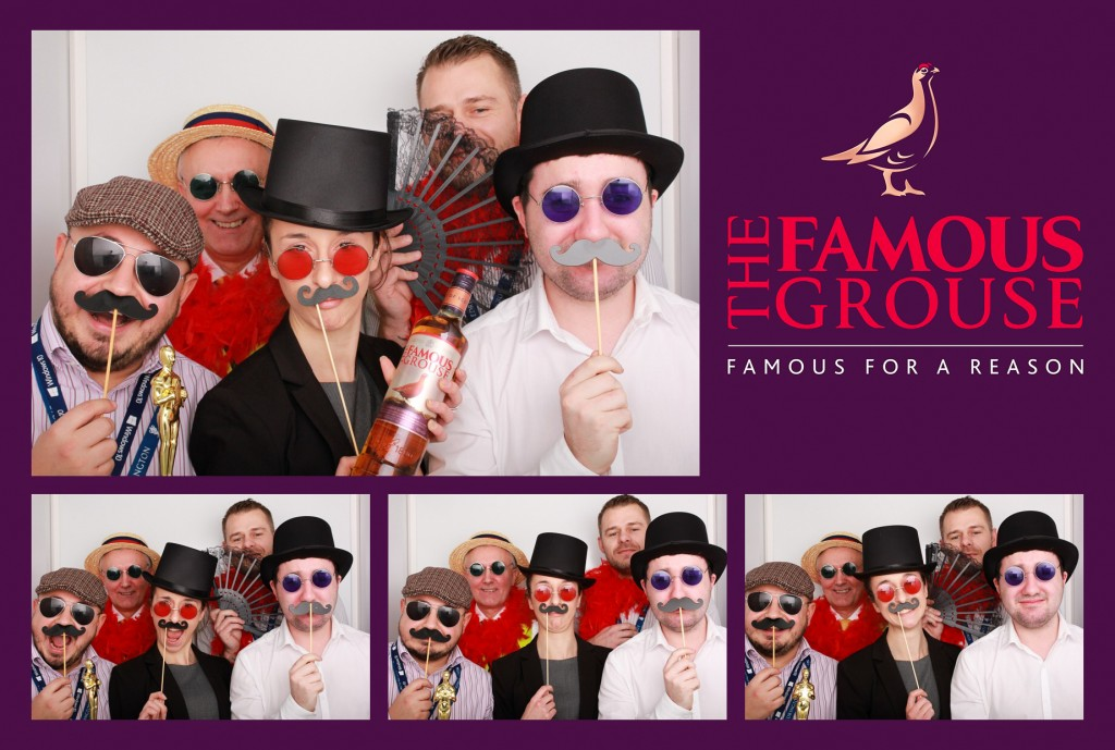 Corporate photo booth hire Scotland Odd Box The Famous Grouse