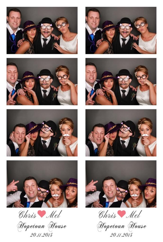 Mel and Chris Wedding Hopetoun House photo booth Scotland