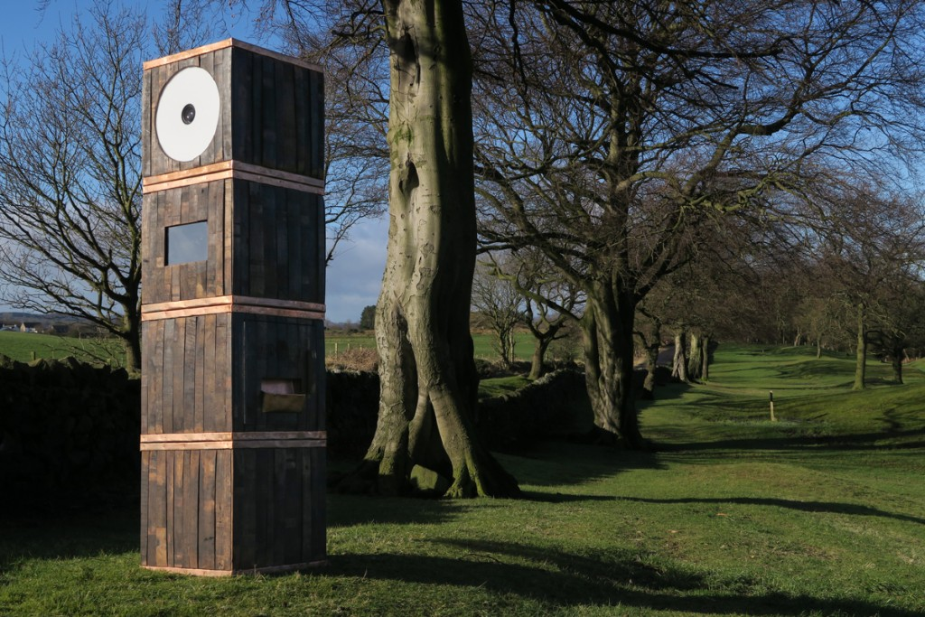 Whisky Barrel Photo Booth in Woods Scotland Odd Box
