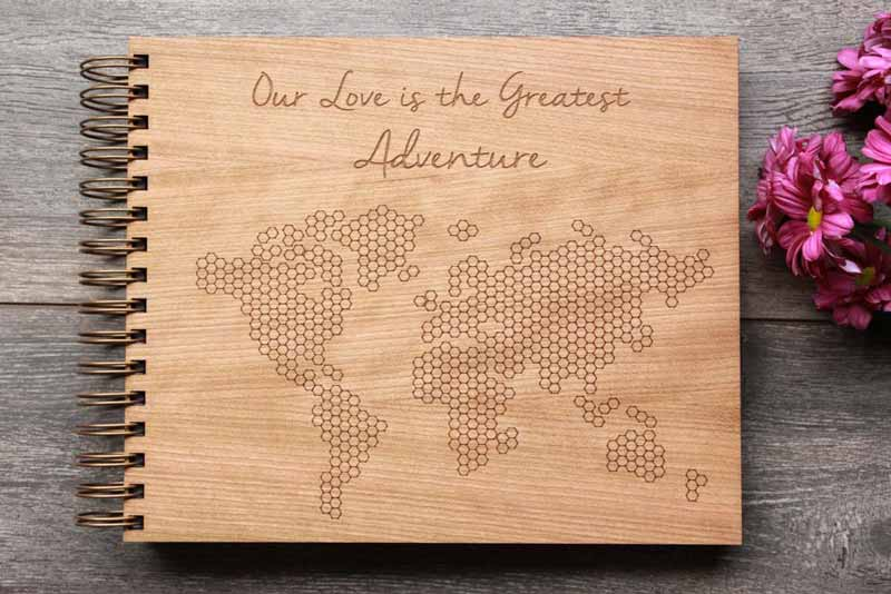 Photo Booth extras engraved wooden wedding guest book odd box
