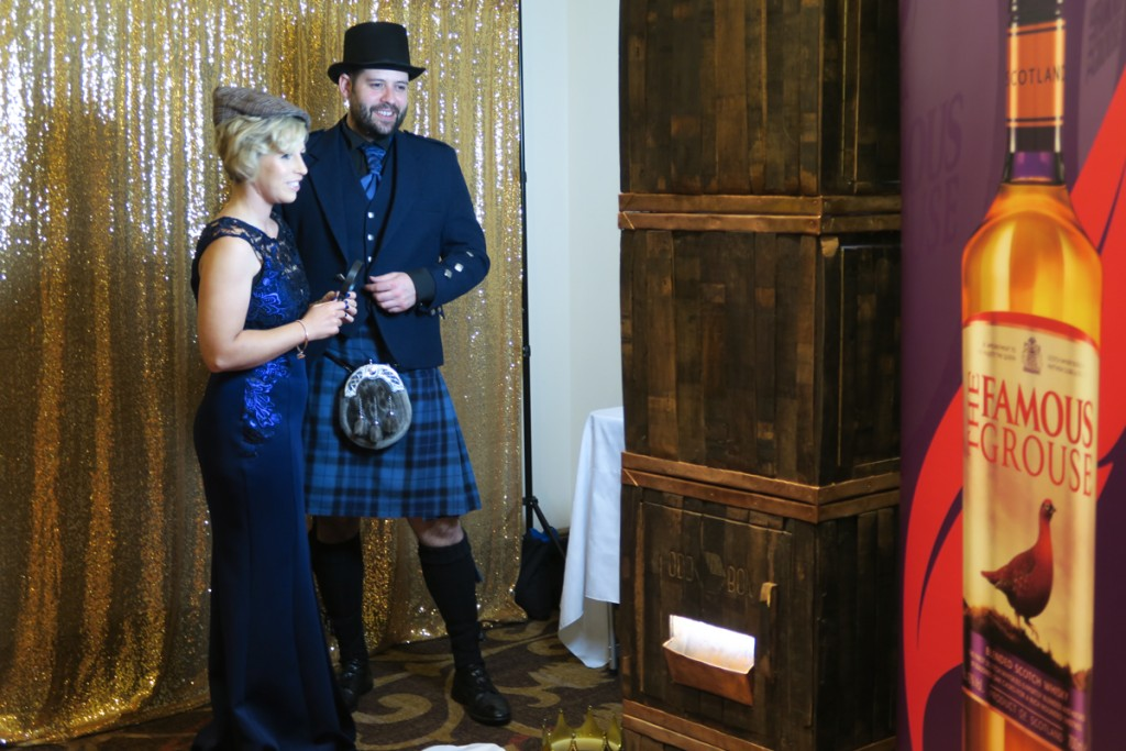 The Famous Grouse Ball Whisky Barrel Photo Booth 2016