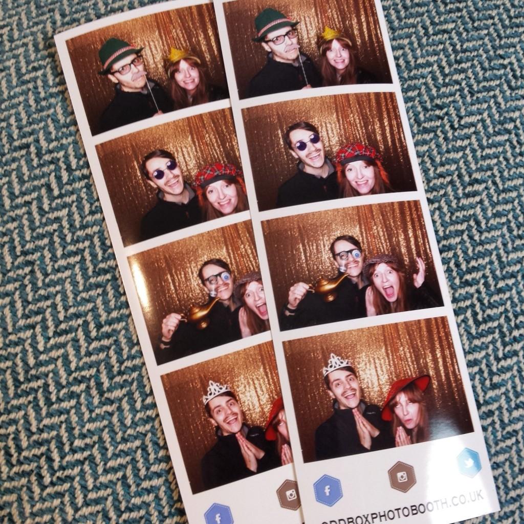 Odd Box Photo Booth prints Kinross House Wedding Showcase