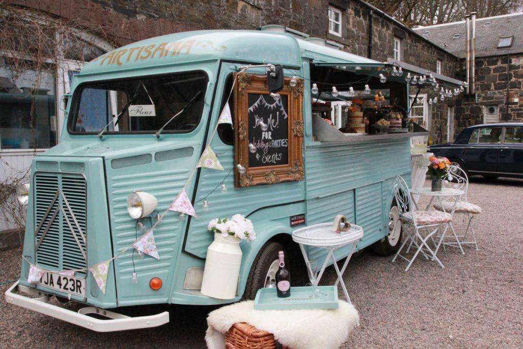 Fluer Citroen H Van Artisana Bakes Comrie Croft Wedding Fair Odd Box
