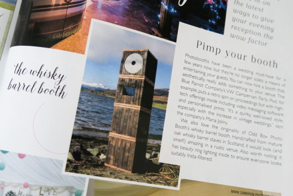 Whisky Barrel Photo Booth Scottish Wedding Directory Magazine Odd Box Scotland-1