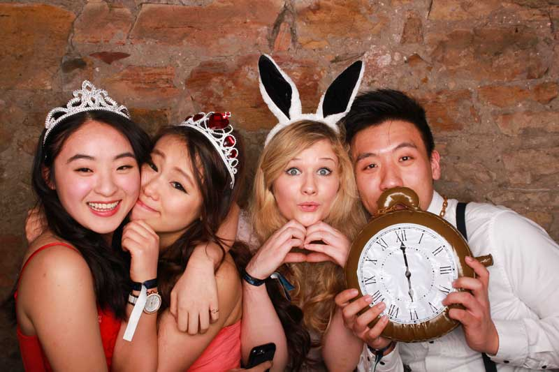 Book a photo booth hire, hire a photo booth in Scotland, find a photo booth, alice in wonderland theme photo booth party
