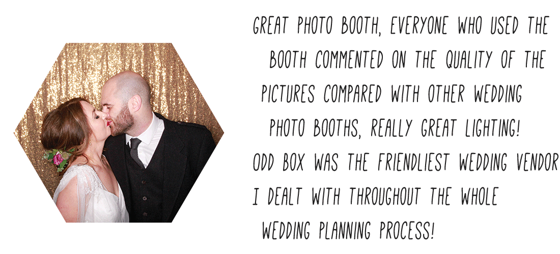 Odd Box photo booth hire review, wedding photo booth review, best photo booth hire in glasgow