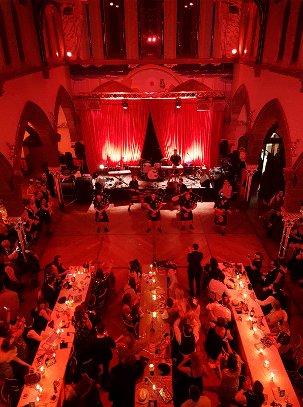Red Hot Chilli Pipers Oran Mor Wedding Glasgow Scotland