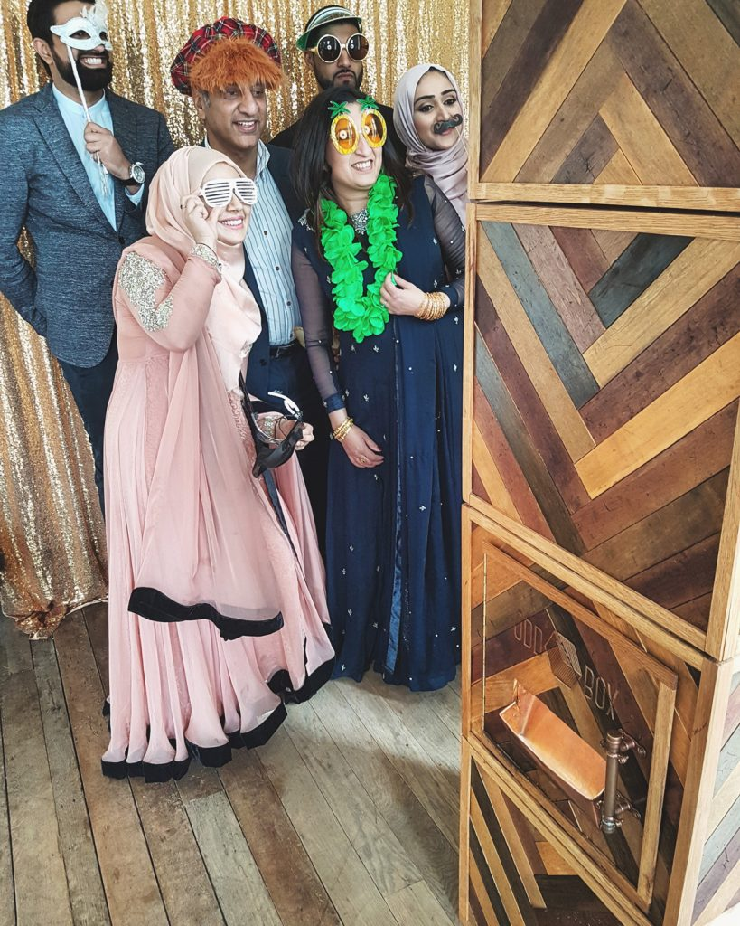 Indian Wedding using Odd Box Chevron Herringbone Wedding Photo Booth at Springkell House Scottish Borders