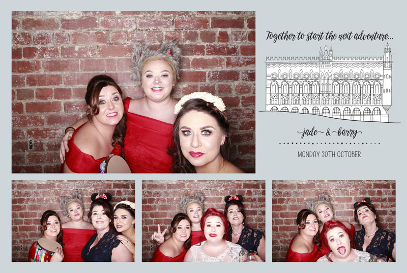 WEST On The Green Glasgow Templeton Building Custom Photo Booth Print Design