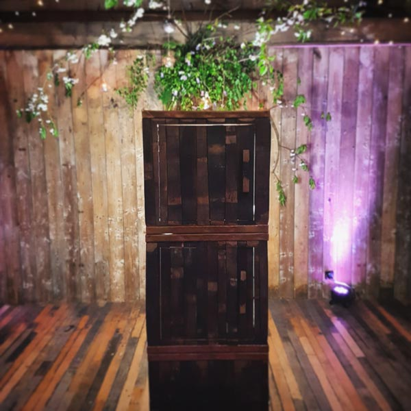 The Byre At Inchyra Wedding Whisky Barrel Photo Booth Floral Backdrop Ceremony Room