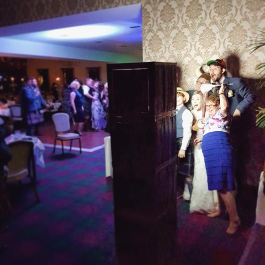 Blair & Shona Glenbervie House Hotel Wedding Photo Booth