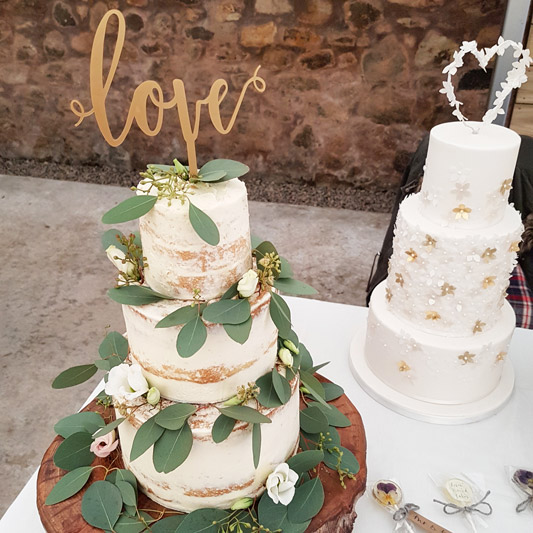 Loren Brand Cakes Wedding Foliage Cake
