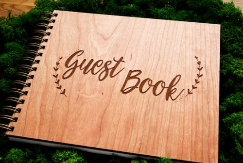 Wooden Guest Book Extras