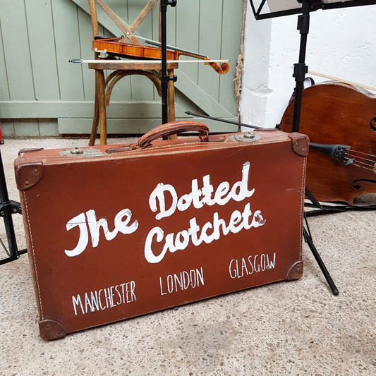 The Dotted Crotchets Suitcase Cow Shed Crail