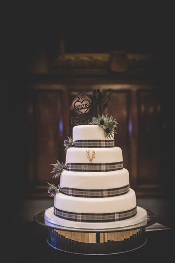 Philippa & Kristian's Trades Hall of Glasgow Wedding Cake