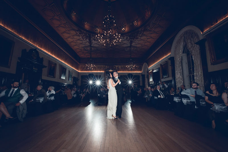 Bride & Groom first dance at Trades Hall of Glasgow Wedding