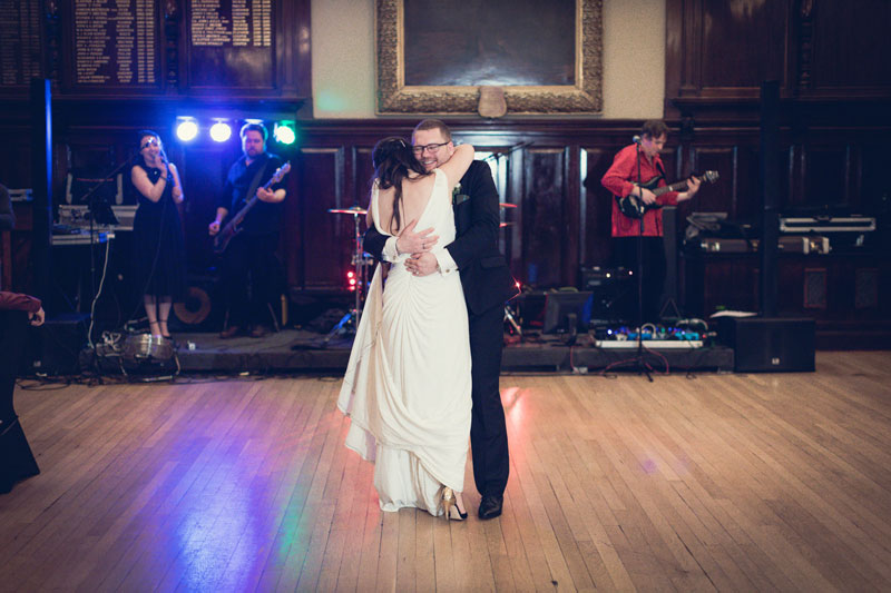 Bride & Groom first dance Trades Hall of Glasgow Wedding