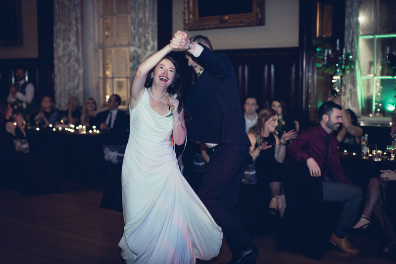 Wedding reception dancing at Trades Hall of Glasgow