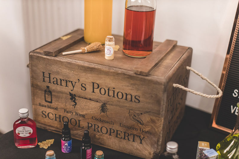 Harry Potter Inspired Wedding Potions Decor