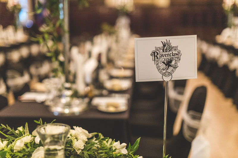 Ravenclaw Harry Potter Inspired Wedding Table Names