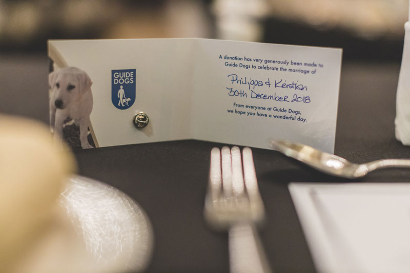 Guide Dogs Wedding Favour Donation