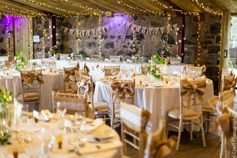 Comrie Croft Wedding Set Up Styling