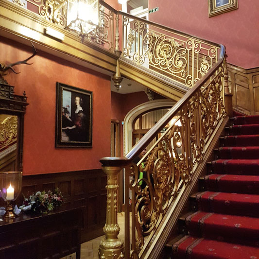 Auchen Castle Wedding Beattock Staircase