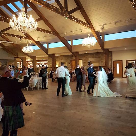First Wedding Dance GG's Yard Eilidh and Kieran