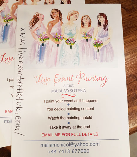 Live Event Painting Contact Details