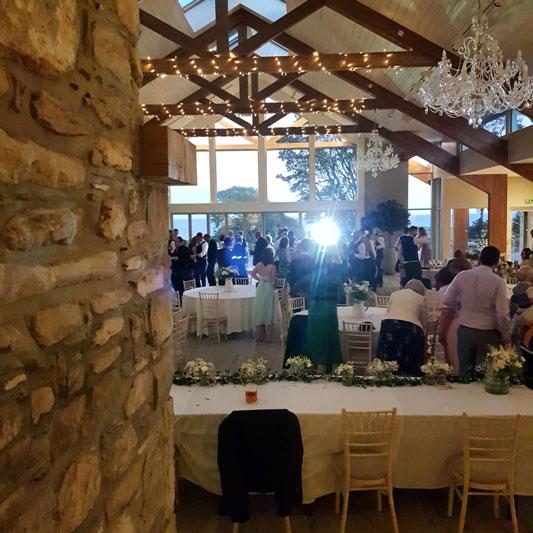 View of Dance Floor at GG's Yard Wedding